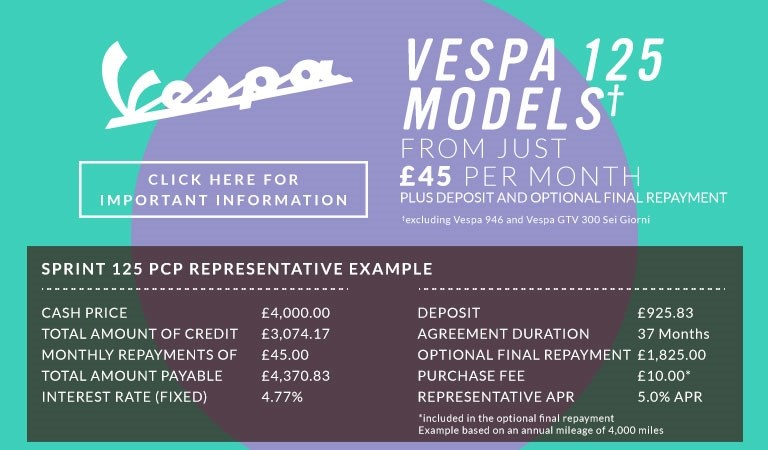 Vespa Finance Offers